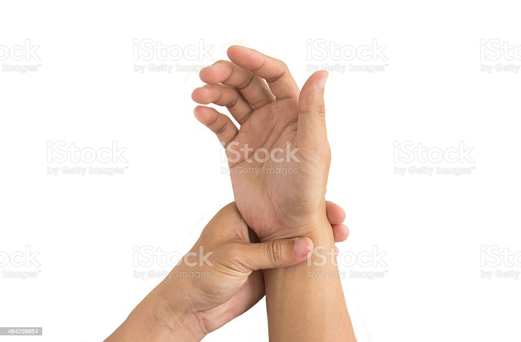 man hand injury stock photo