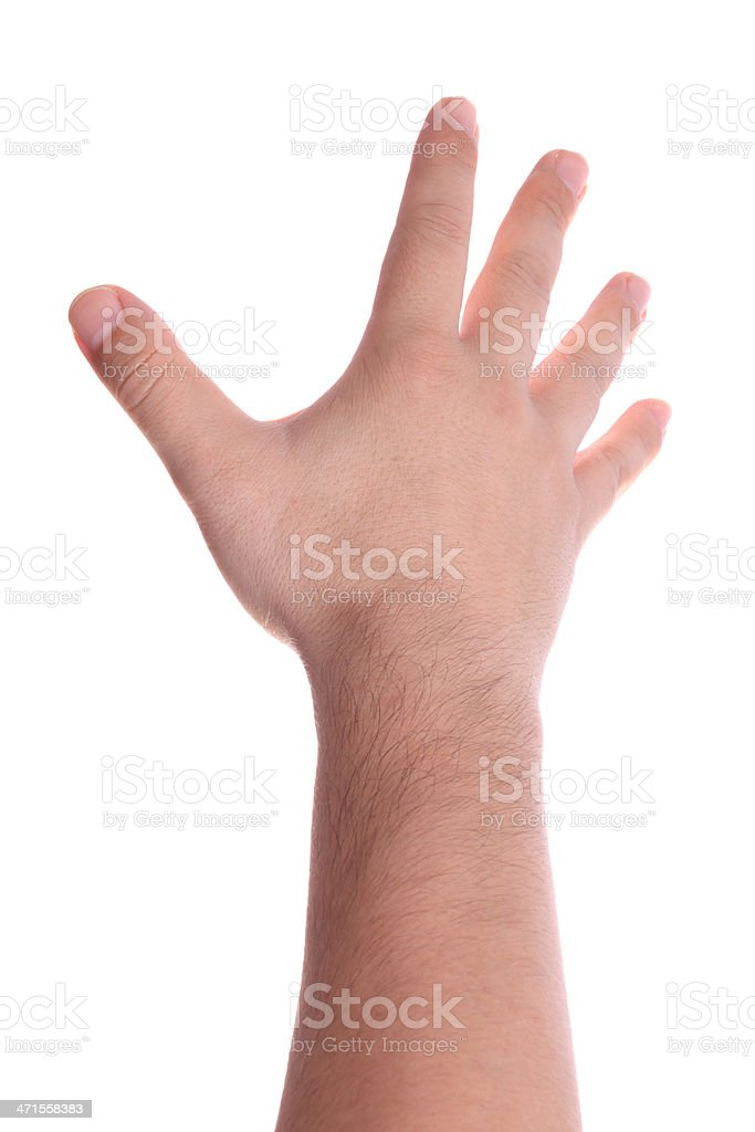 Man Hand (Isolated) royalty-free stock photo