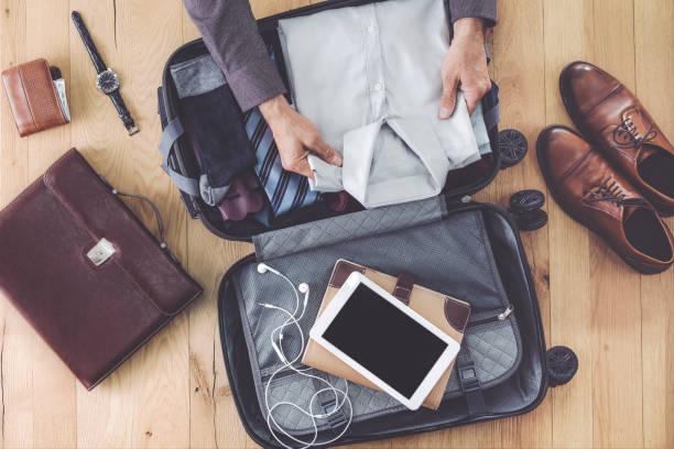 Mann Vorbereitung Business Handgepäck – Foto