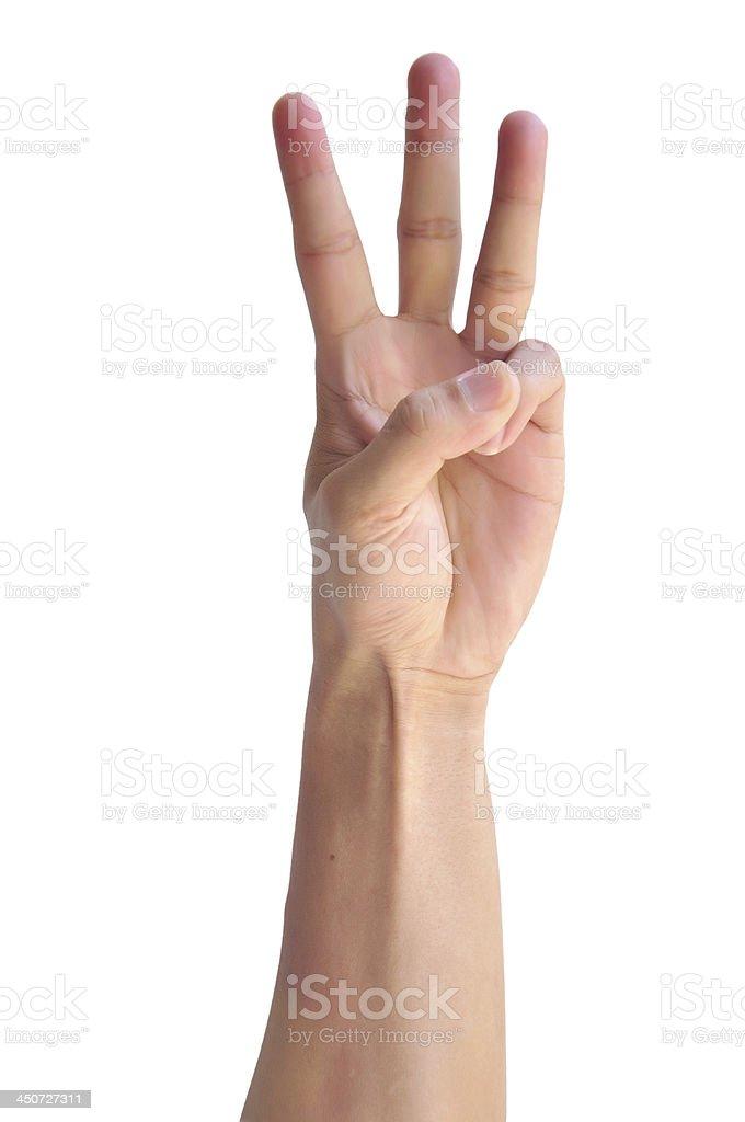 Man hand sign royalty-free stock photo