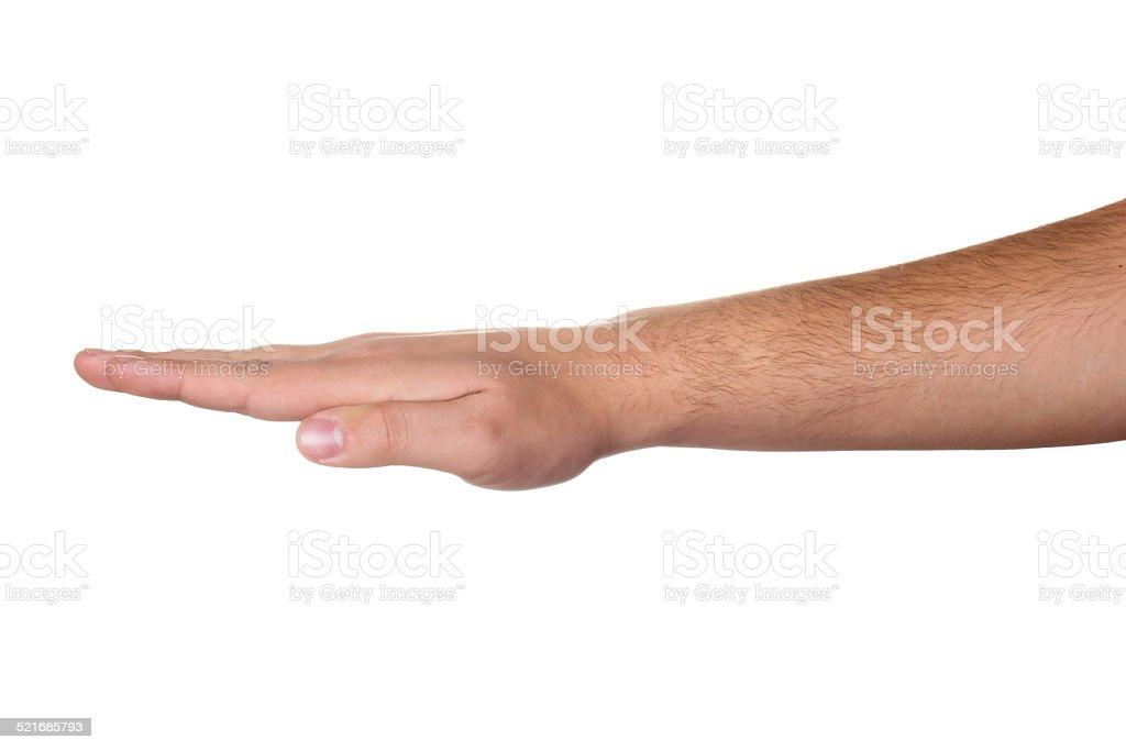 Man hand sign stock photo