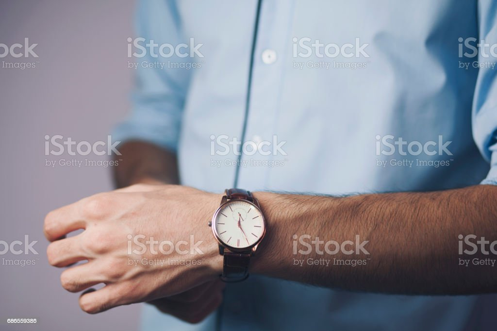 man hand watch royalty-free stock photo