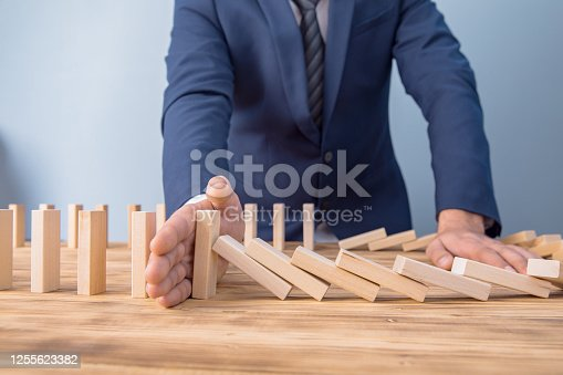 Board game tower of light wood sticks