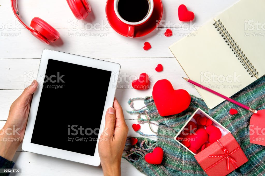 Man hands giving blank screen smartphone royalty-free stock photo