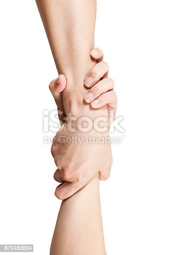 istock man hands take gesture of help on white backgrounds, coporatioin concepts, isolated 670483634