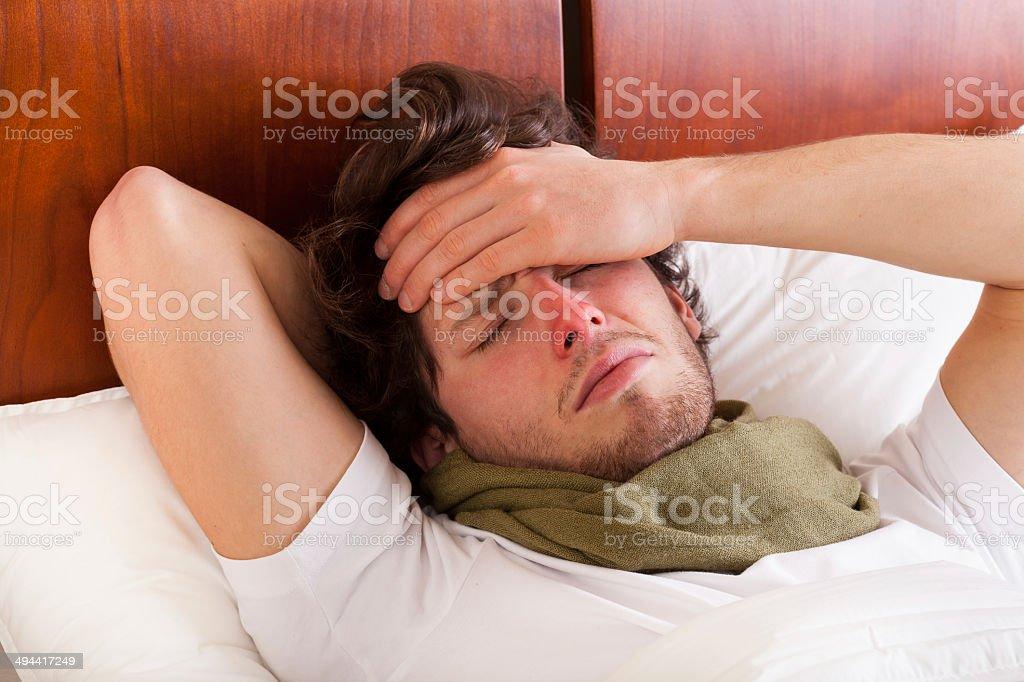 Man having a flu stock photo