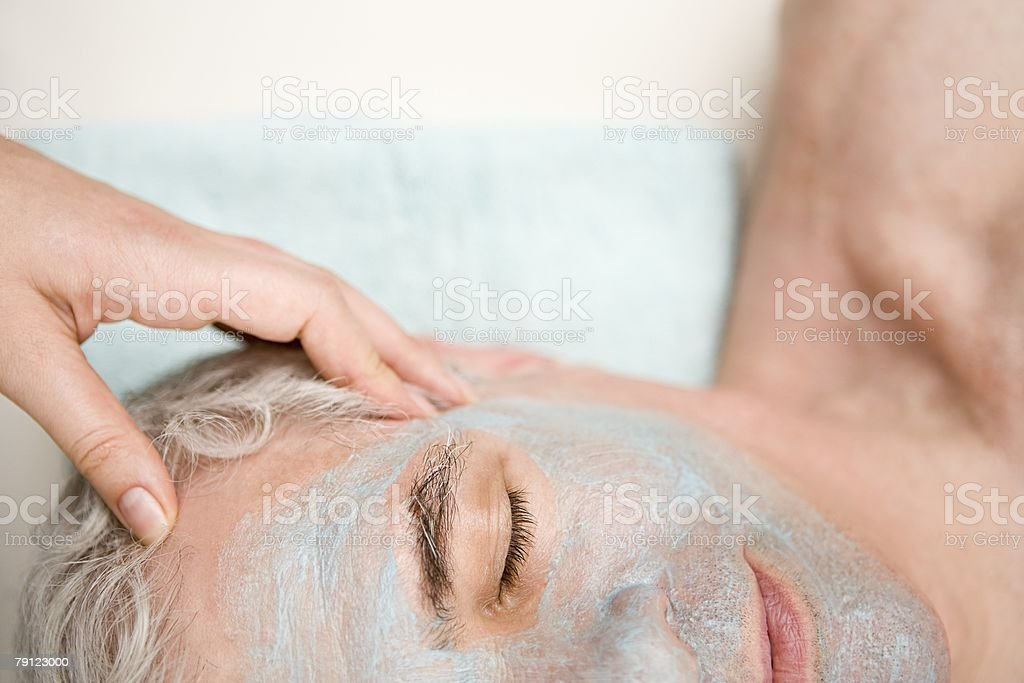 Man having a head massage 免版稅 stock photo