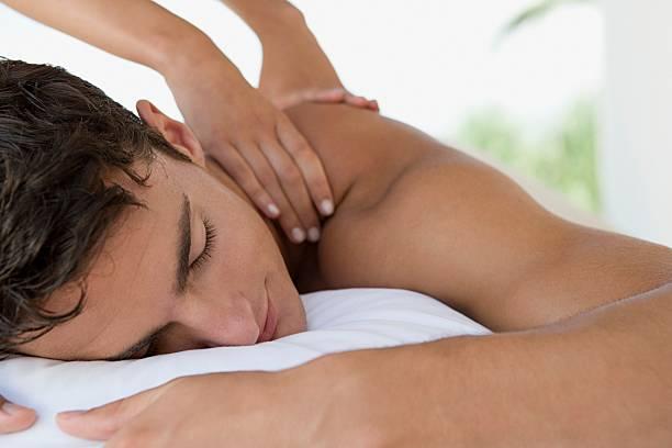 Mann, eine massage – Foto