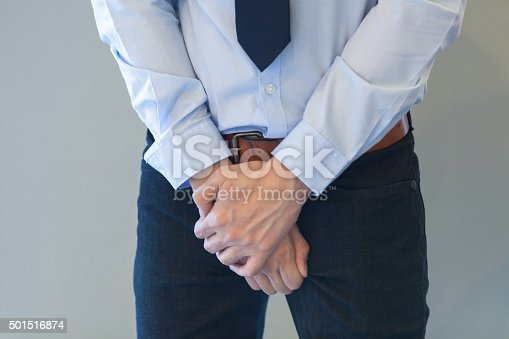 istock Man having a problem with his penis 501516874