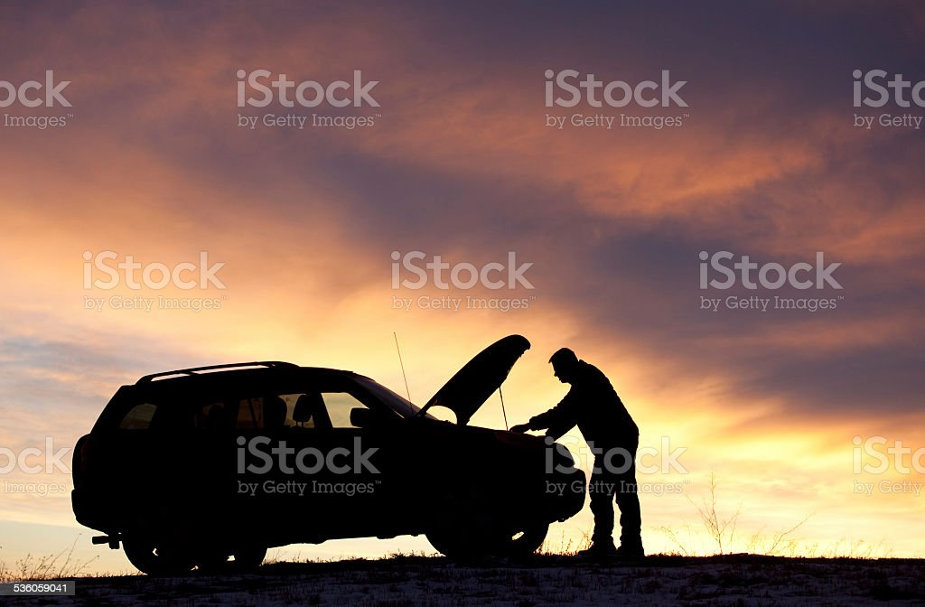 Man Having Car Trouble foto