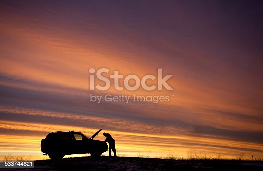 istock Man Having Car Trouble Roadside Assistance Needed 533744621