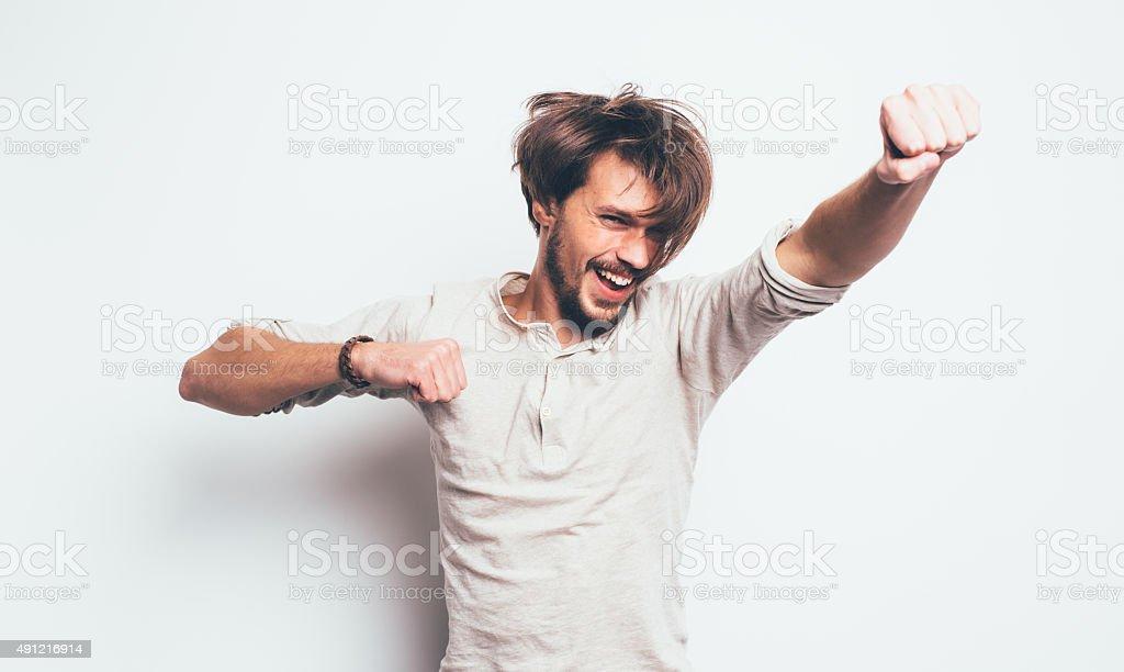Mann Spaß Lizenzfreies stock-foto