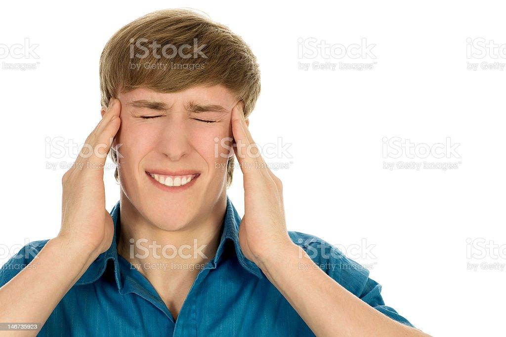 Man having headache royalty-free stock photo
