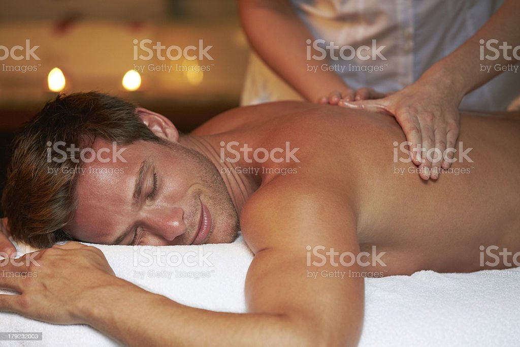 Man Having Massage In Spa royalty-free stock photo