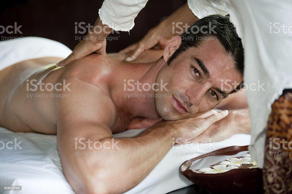 Man Having Massage royalty-free stock photo