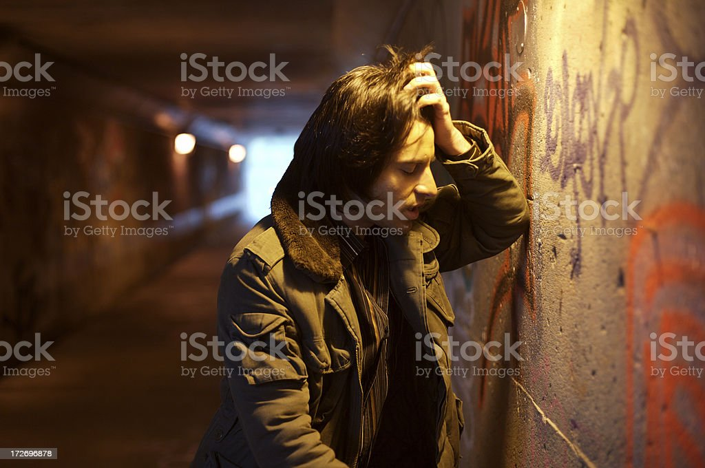 man having remorse royalty-free stock photo