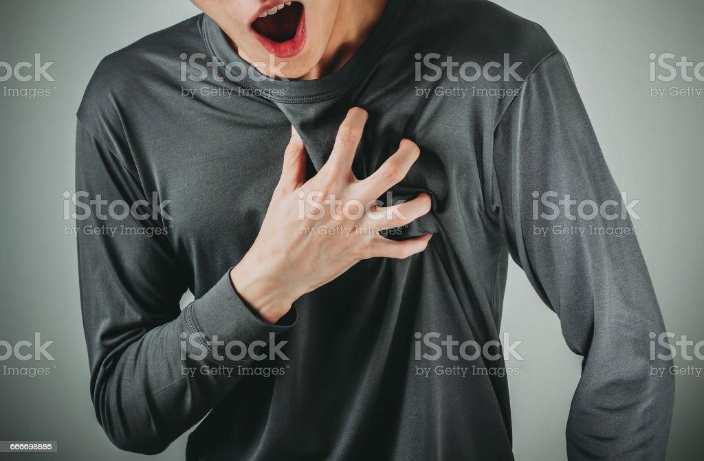 man heart attack - foto de stock