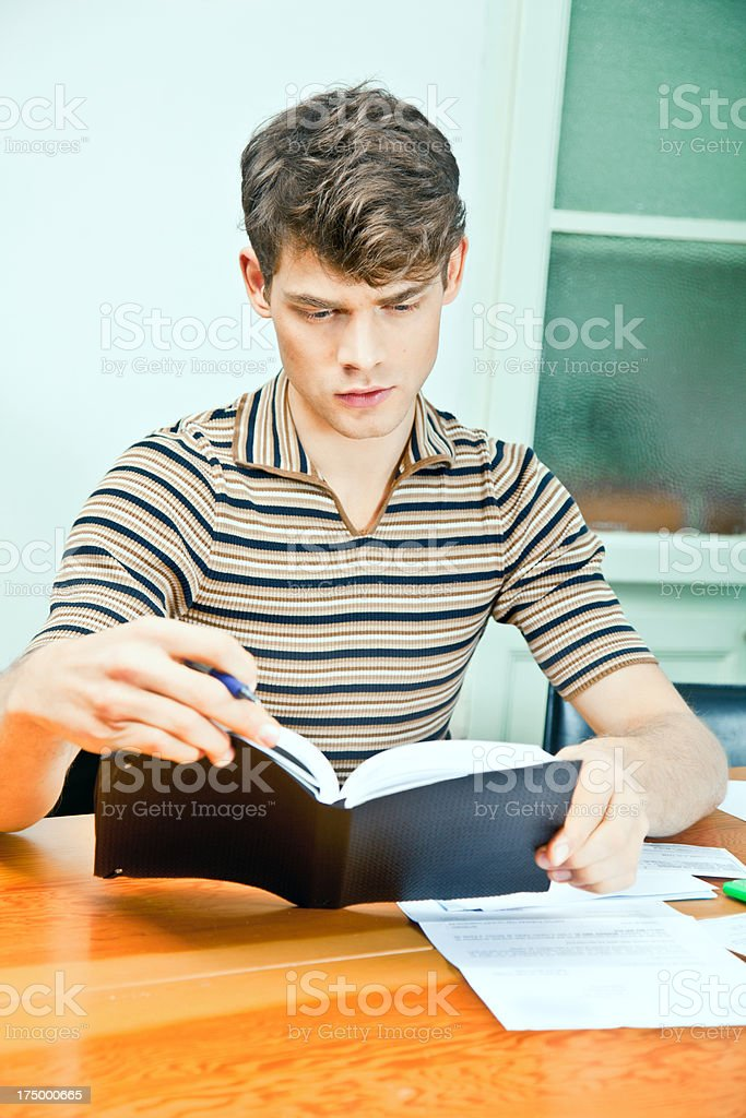 Man heeping his finances royalty-free stock photo