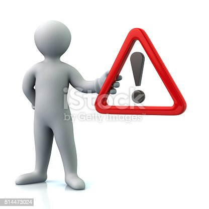 istock Man hholding  warning attention sign with exclamation mark 514473024
