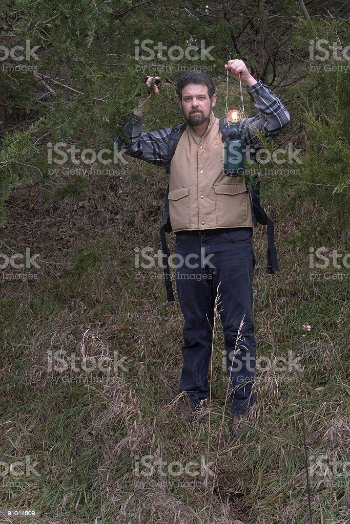 Man Hiking royalty-free stock photo