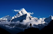 Climber in Mount Everest,Himalayan