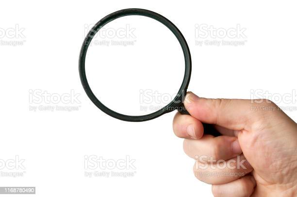 Man hold a magnifying glass on white background picture id1168780490?b=1&k=6&m=1168780490&s=612x612&h=h38jtwps8j asy2bedns8pehvendiqdieuph0i6axty=
