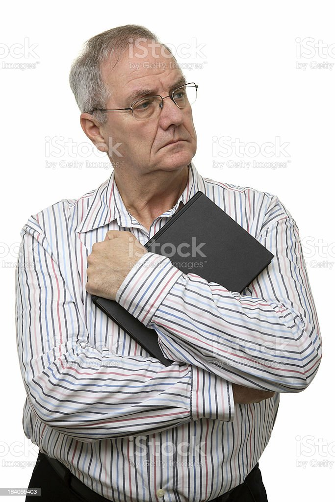 Man Holding Book royalty-free stock photo