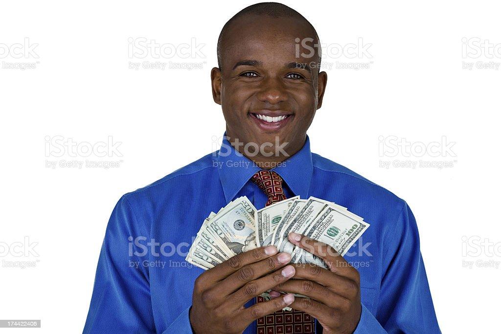 Man holding money royalty-free stock photo