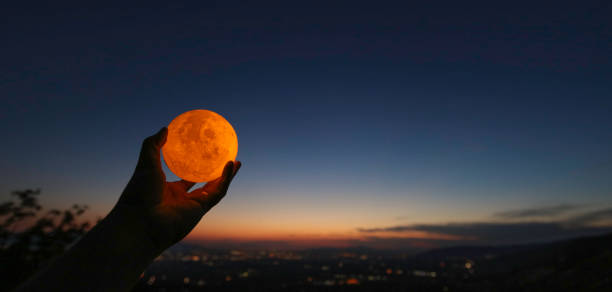 Hand Catching The Moon Pictures Images And Stock Photos