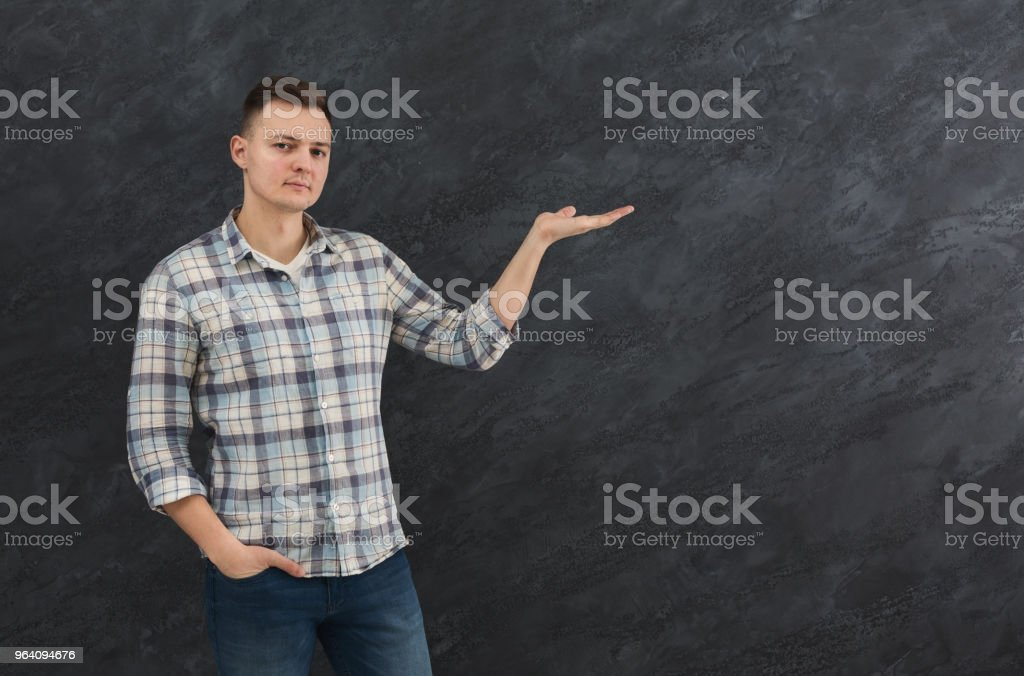 Man holding palm open copy space - Royalty-free A Helping Hand Stock Photo