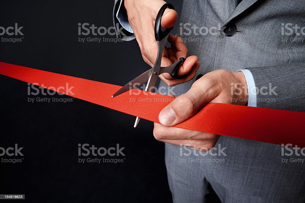 Man holding ribbon royalty-free stock photo