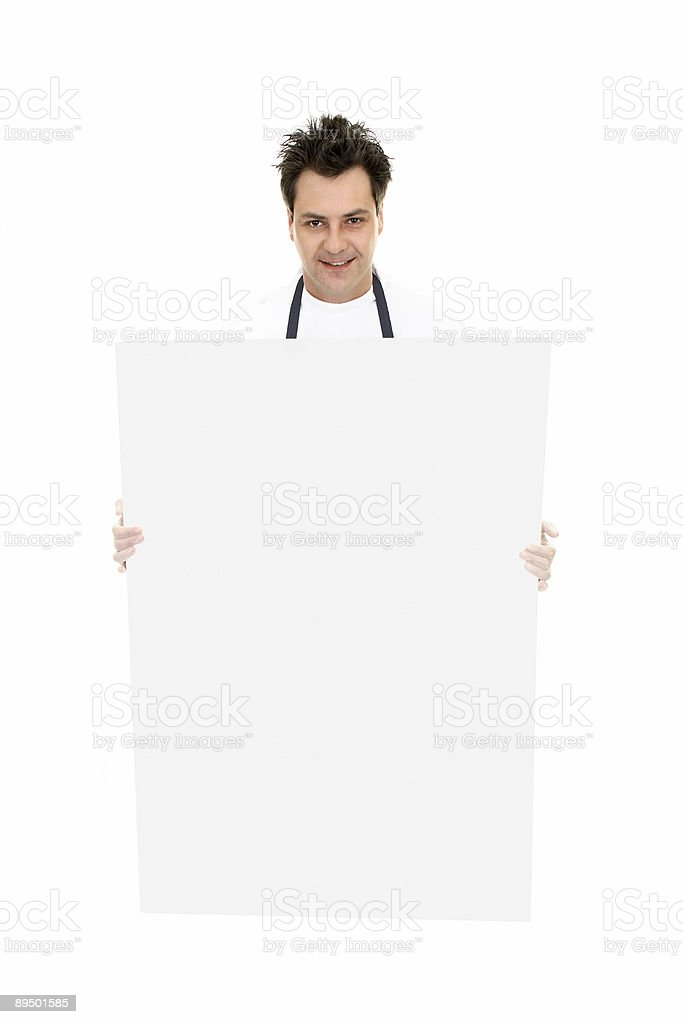 Man holding sign board royalty-free stock photo