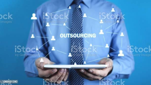 Man holding tablet outsourcing business strategy concept picture id1069451390?b=1&k=6&m=1069451390&s=612x612&h=n3k6oblp0c3s5itxyu6kqketjxum9  xcgteu3p1wpw=