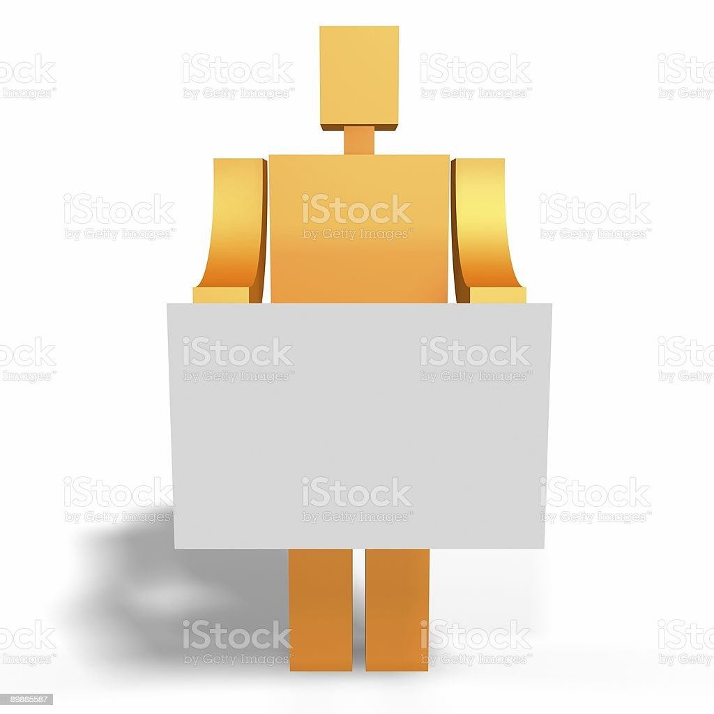 man holds a card royalty-free stock photo