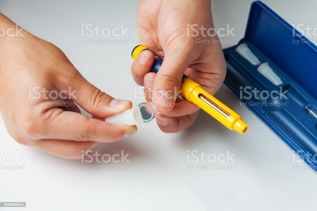 A Man Holds A Syringe For Subcutaneous Injection Of Hormonal Drugs In The  Ivf Protocol Medical Product In Ampoules Preparation For Pregnancy Helping