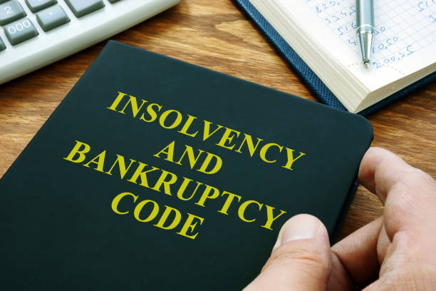 Man holds Insolvency and bankruptcy code IBC. Man holds Insolvency and bankruptcy code IBC. bankruptcy stock pictures, royalty-free photos & images