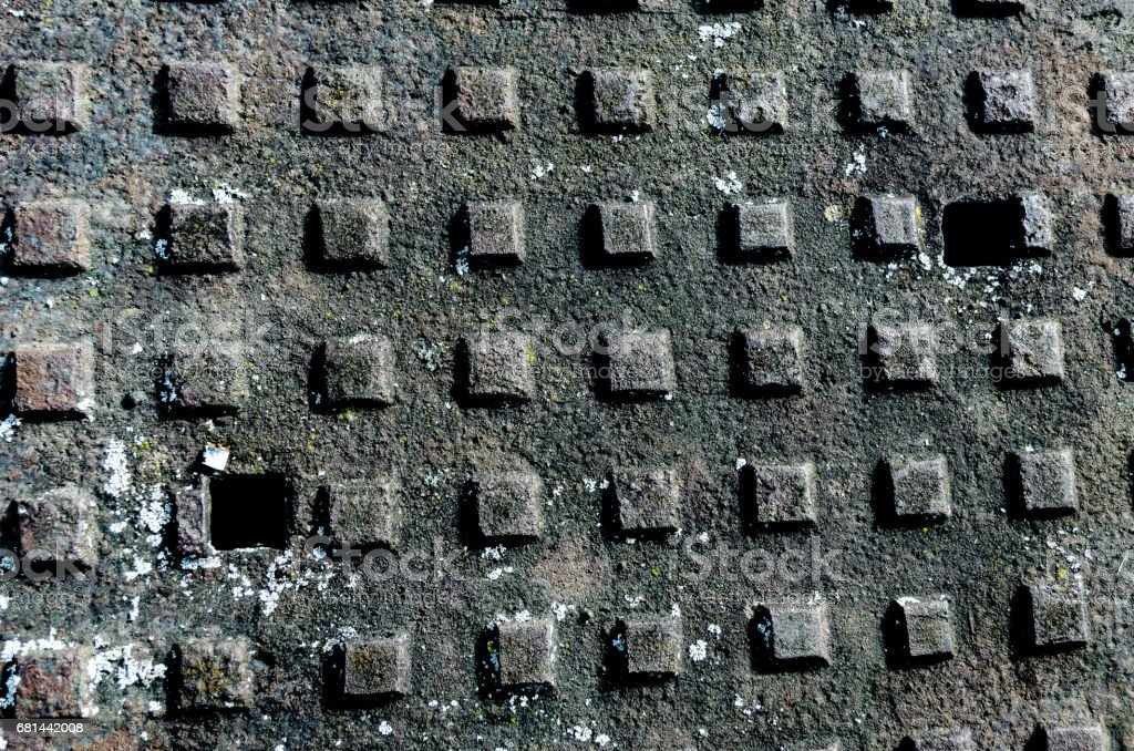 man hole cover closeup background royalty-free stock photo