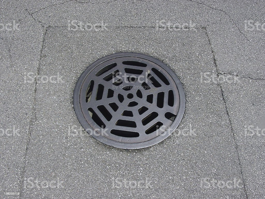 Man Hole Cover stock photo