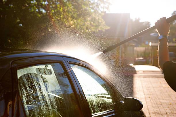 Mann Waschen Auto – Foto