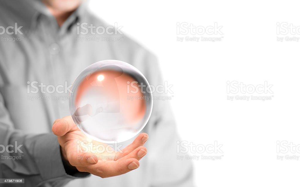 Bola de cristal - foto de stock