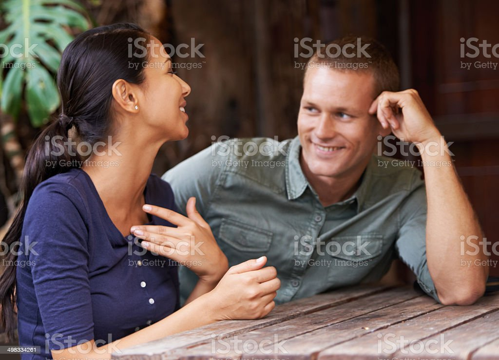 Man, I love catching up on all the female gossip stock photo