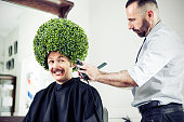 istock Man in a barber shop 508441393