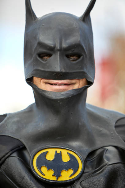 Man in a Batman Costume stock photo