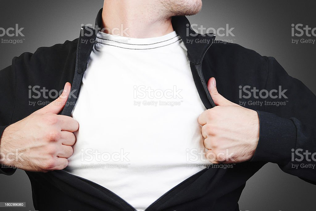 Man in a black sweater stock photo