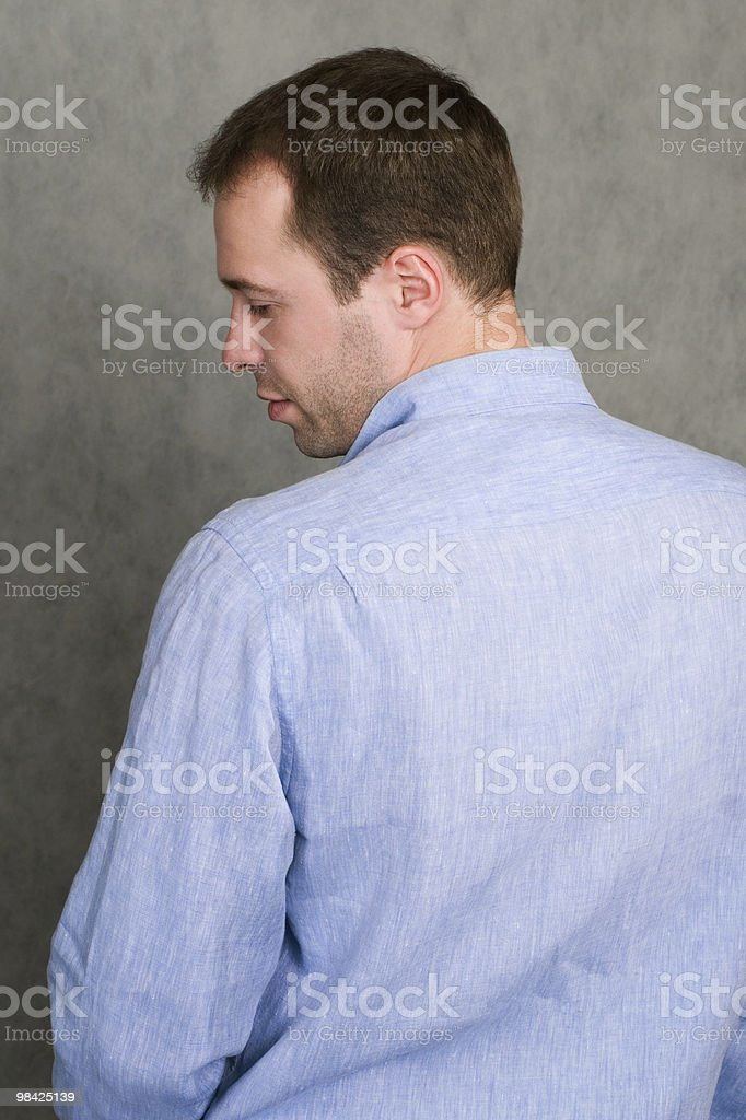 man in a blue shirt royalty-free stock photo