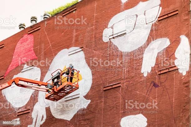 Man in a lift making a mural picture id866503596?b=1&k=6&m=866503596&s=612x612&h=l2ipfwzvwakhuqwfb sudo 04qt 0tr76umphrvkijm=