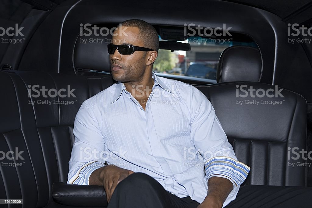 Man in a limousine 免版稅 stock photo