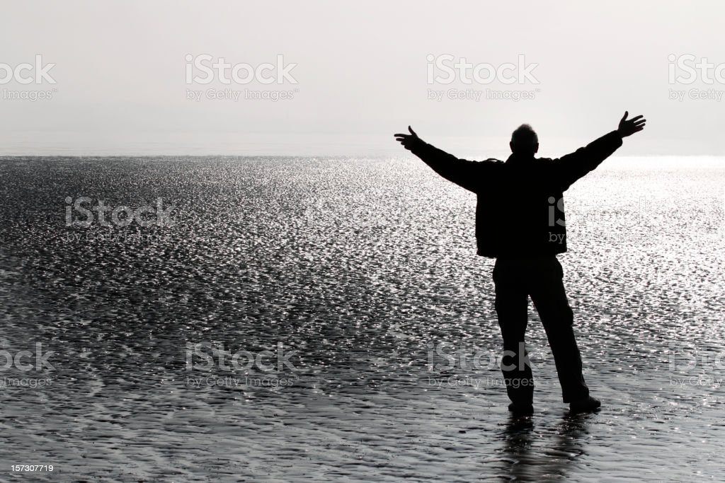 Man in a spiritual pose royalty-free stock photo