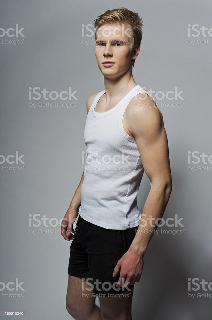 Man in a t-shirt stock photo