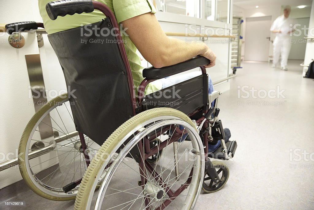Man in a wheelchair royalty-free stock photo